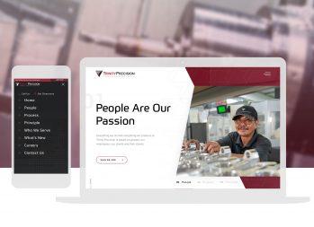 Cassandra Bryan Design Wichita Kansas Website Design Manufacturing Trinity Precision