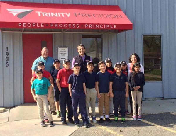Aerospace Manufacturer Principle Giving Back Tour